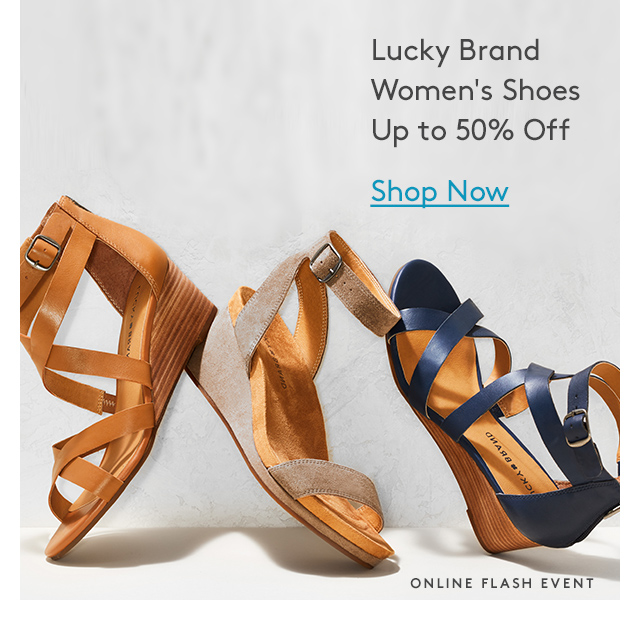 Lucky Brand Women's Shoes | Up to 50% Off | Shop Now | Online Flash Event