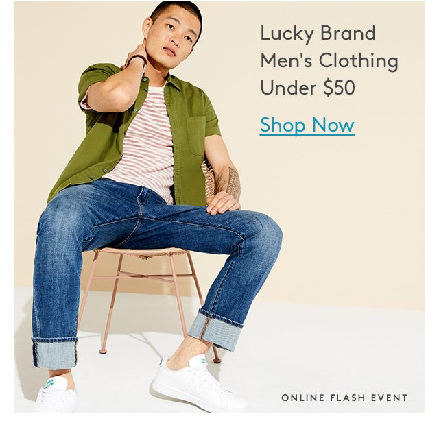 Lucky Brand Men's Clothing | Under $50 | Shop Now | Online Flash Event