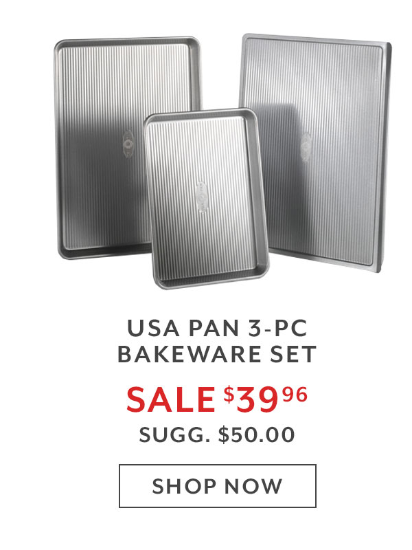 USA Pan 3-PC Bakeware Set