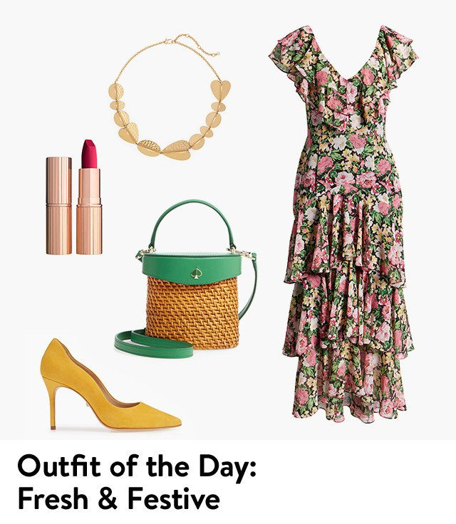 Outfit of the day: fresh and festive.
