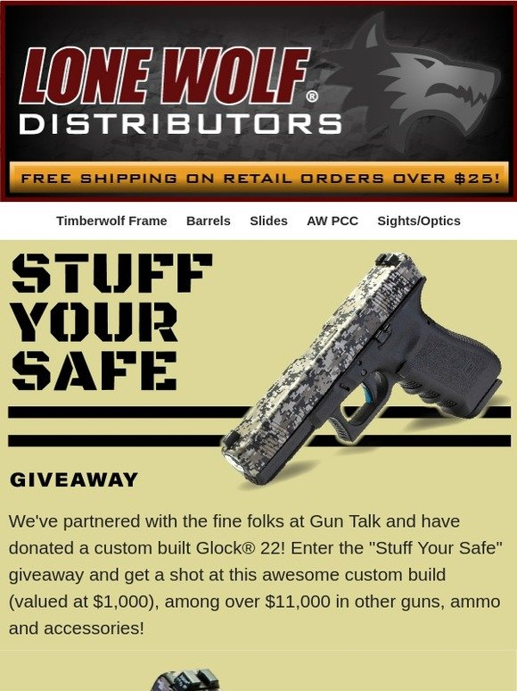Lone Wolf Distributors: Win a Lone Wolf built G22 with the Stuff
