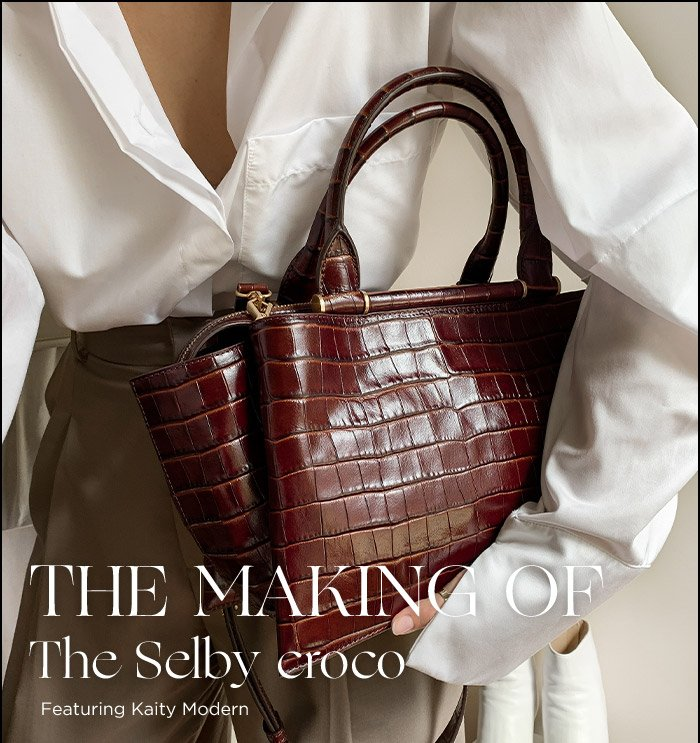 Oroton AW19 The Making of Selby Croco Kaity Modern