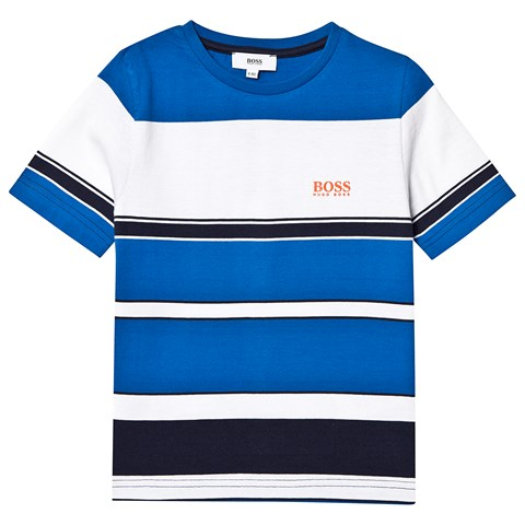 Boss Blue and White Stripe T-Shirt