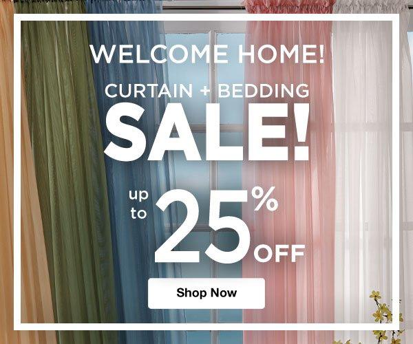 Shop Curtain & Bedding Sale!