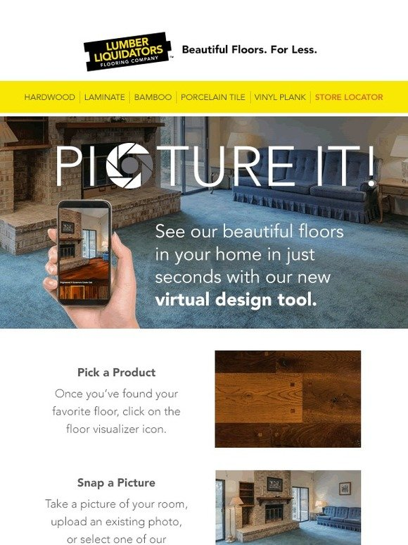 Lumber Liquidators: Picture It! Our flooring in YOUR home