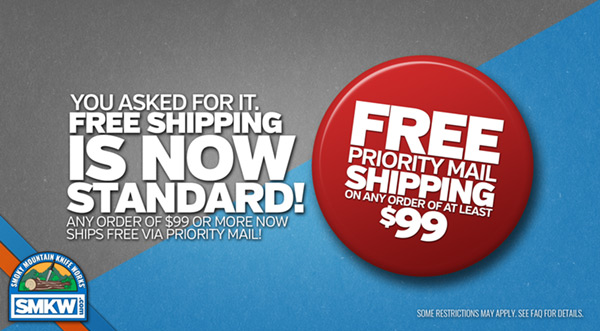 Free Priority Mail Shipping on any order of more than $99!