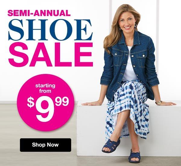 Shop Our Semi-Annual Shoe Sale!