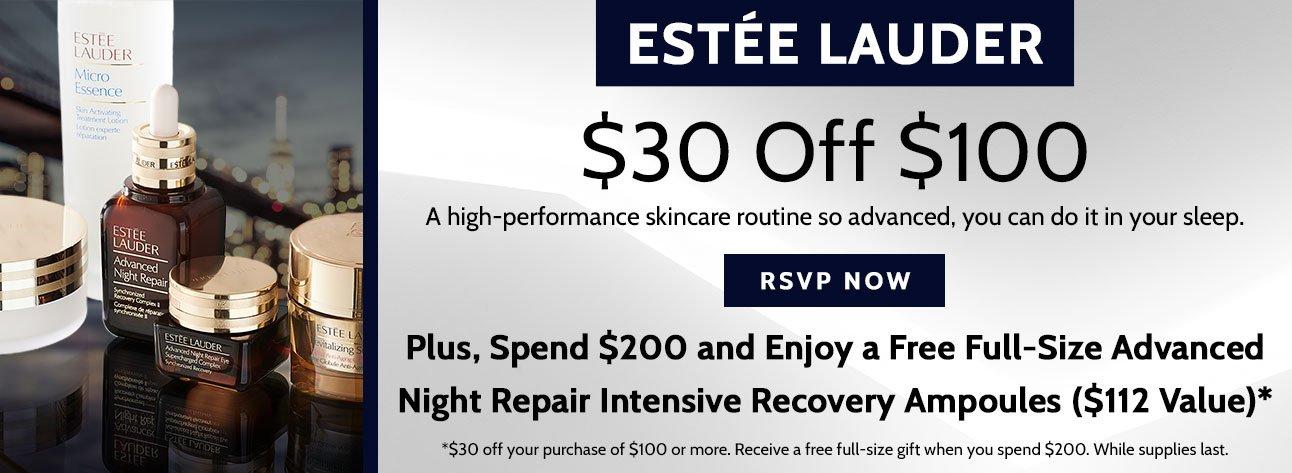 $30 Off Estee Lauder