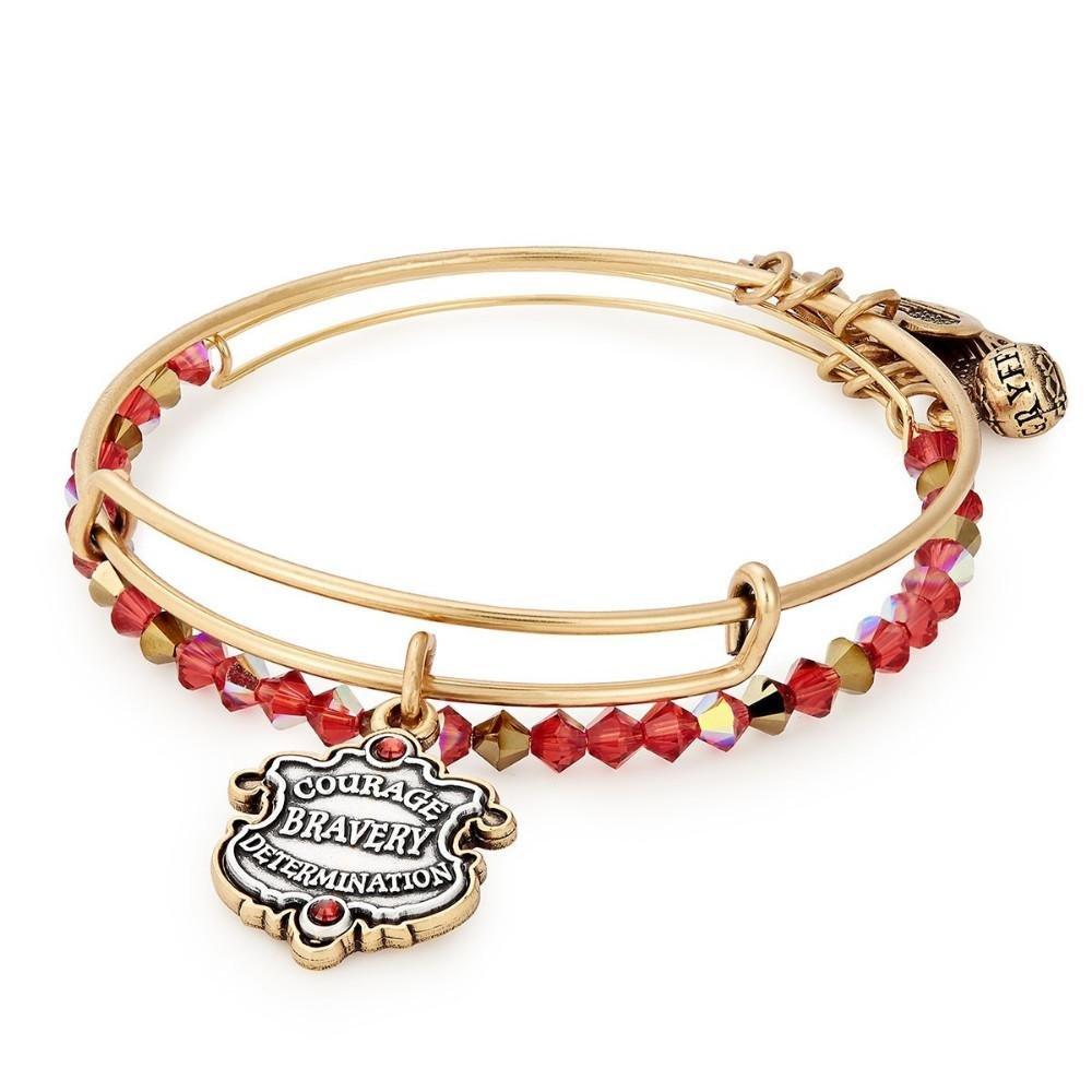 5bf9ab6d0 ALEX AND ANI Harry Potter Gryffindor Motto Bracelet, Set of 2