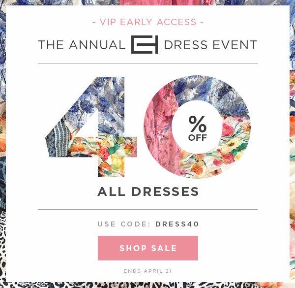 e8a7b2e9e1b Elie Tahari  VIP Early Access  The Annual Dress Event - 40% Off ...