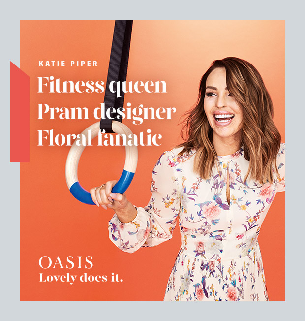 KATIE PIPER - Fitness queen, Pram designer, Floral fanatic