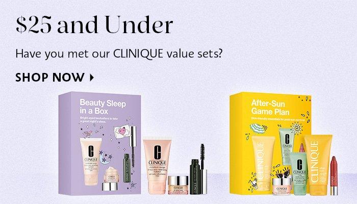 Shop Now Clinique Value Sets