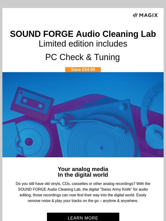 MAGIX Software: Limited Edition! SOUND FORGE Audio Cleaning