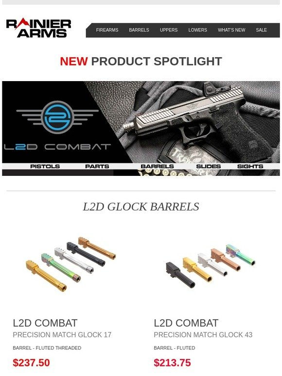 Rainier Arms: New Product Spotlight: L2D Combat Pistol
