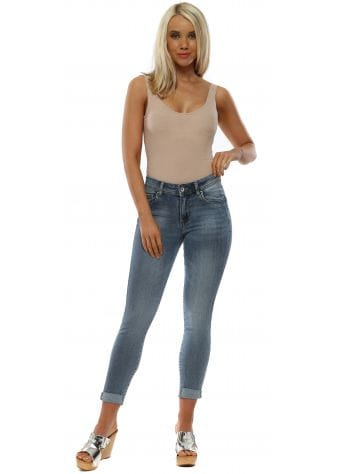 Stretch Denim High Waisted Uplift Jeans