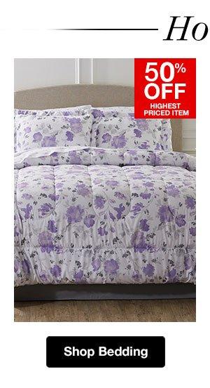 Shop Bedding! 50% OFF Highest Priced Item