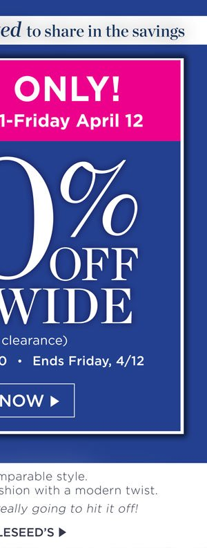 2 Days Only! 40% off Sitewide! Promo code APRIL40. Shop Now.