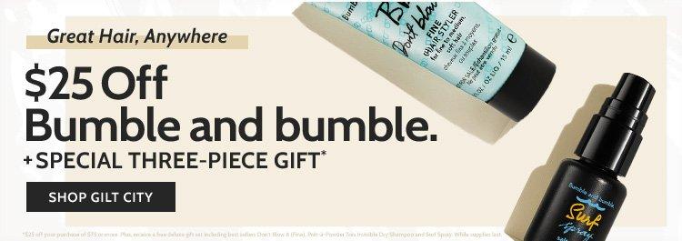 $25 Off at Bumble and bumble!