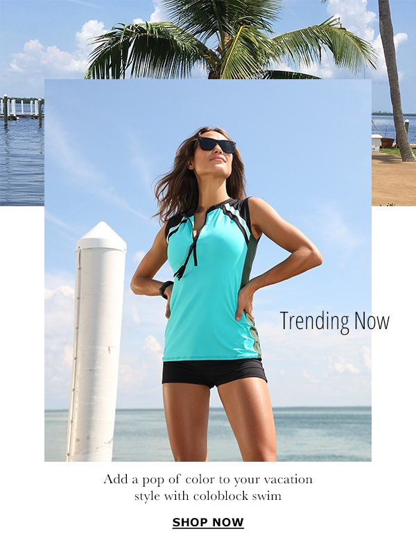 b18ad3e619b TRENDING NOW: ADD A POP OF COLOR TO YOUR VACATION STYLE WIT COLORBLOCK SWIM