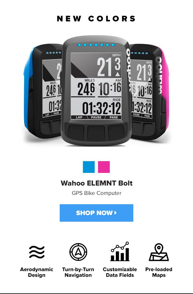 Clever Training: Wahoo ELEMNT Bolt - new colors, limited