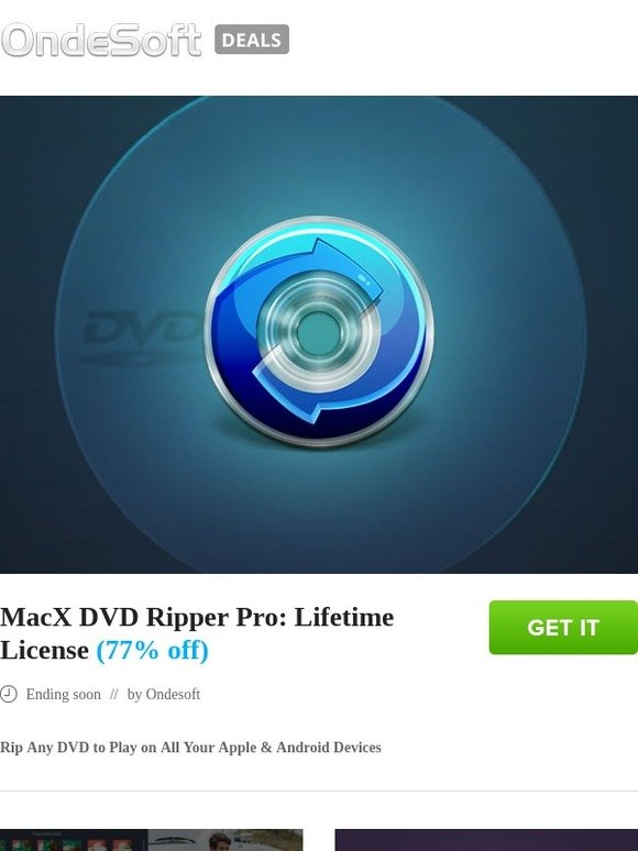 torrentsoft: MacX DVD Ripper Pro: Lifetime License (77% off) | Milled