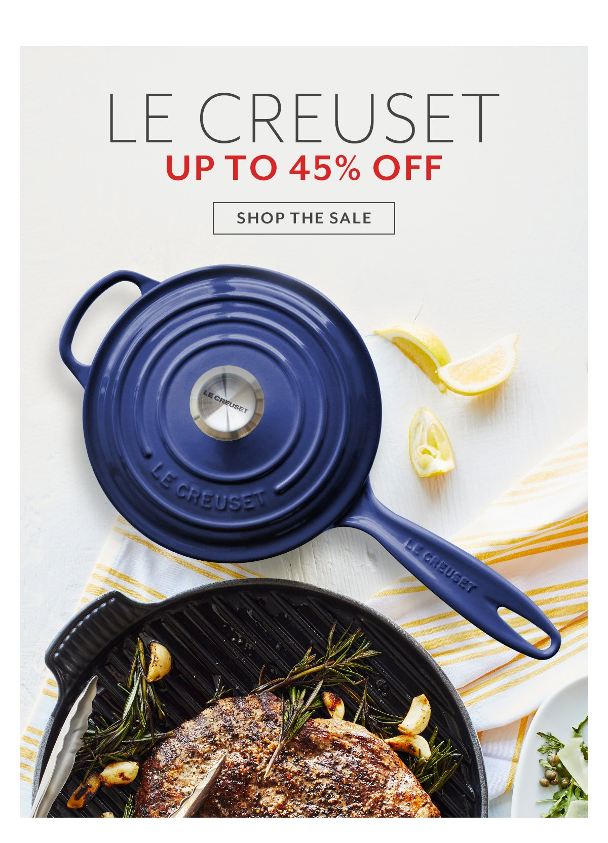 Le Creuset up to 45% Off