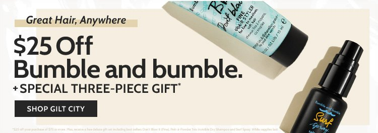 $25 Off at Bumble and bumble!