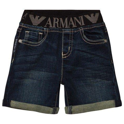 Emporio Armani Dark Blue Denim Shorts
