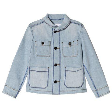 Burberry Light Blue Denim Baird Worker Jacket