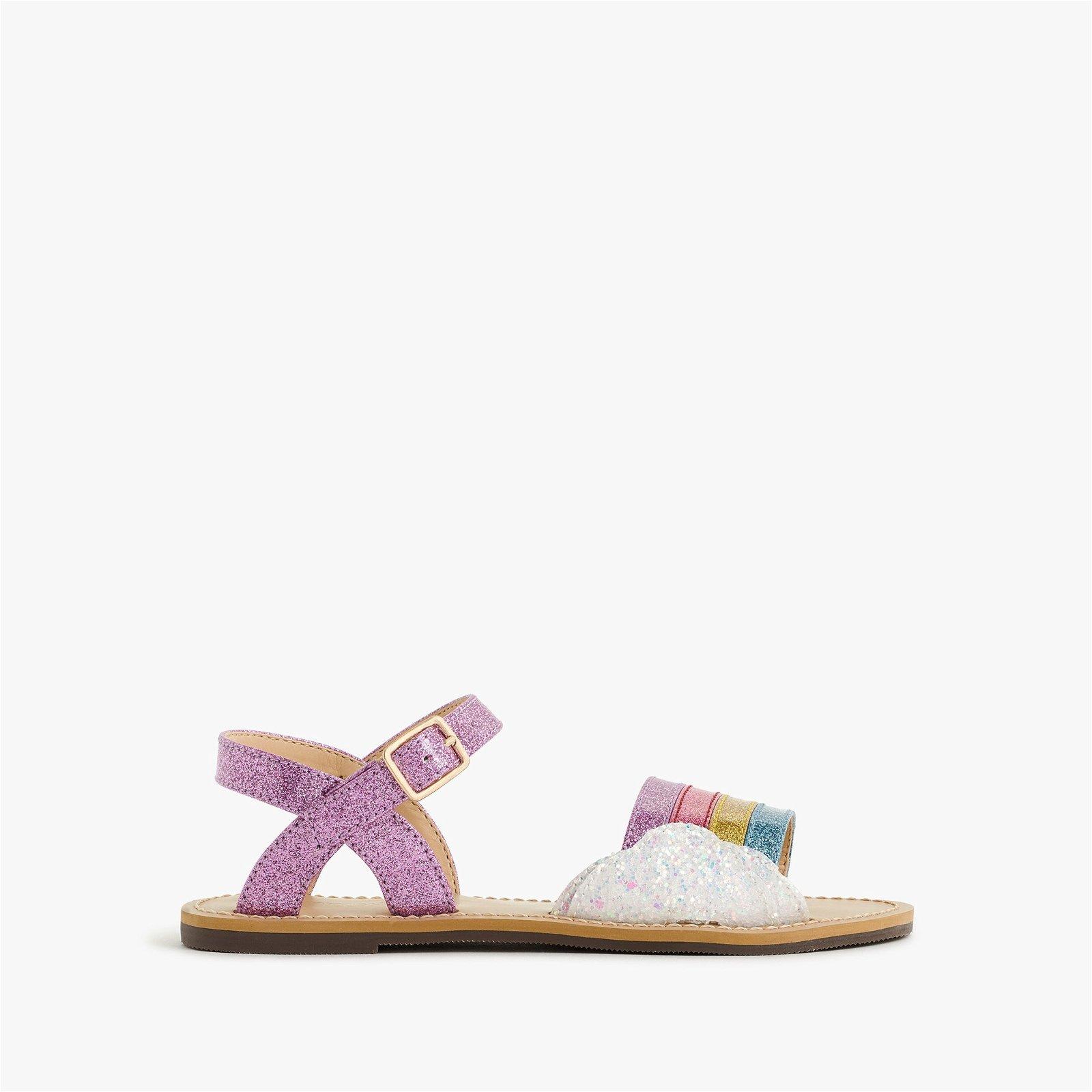 Girls' glitter rainbow sandals