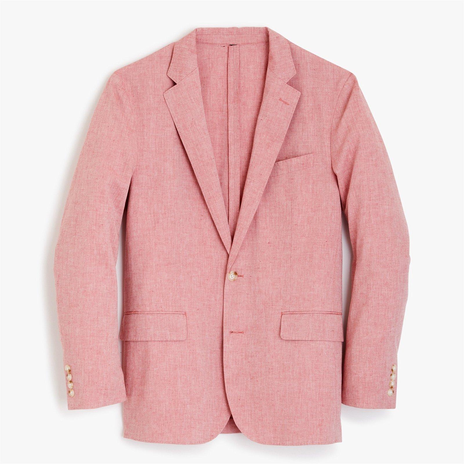 Ludlow Slim-fit unstructured blazer in cotton-linen