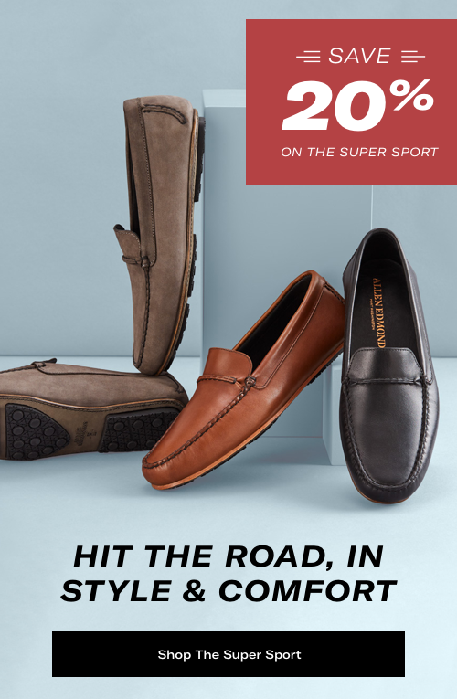 Hit the Road in Style & Comfort. Save 20% on the Super Sport.