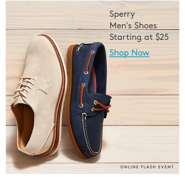 Sperry | Men's Shoes | Starting at $25 | Shop Now | Online Flash Event