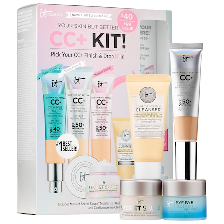 IT Cosmetics : Your Skin But Better CC+ Kit! Pick Your CC+ & Drop IT In : Value & Gift Sets
