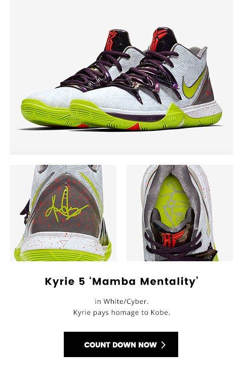 quality design f349a 9b8ad Kids Foot Locker: Dropping 4.13: Kyrie 5 'Mamba Mentality ...