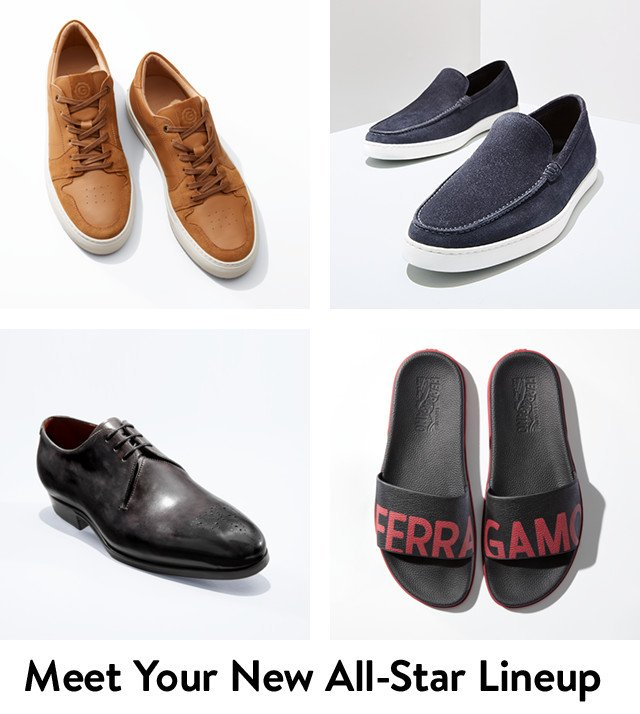 Meet your new all-star lineup: men's shoes.