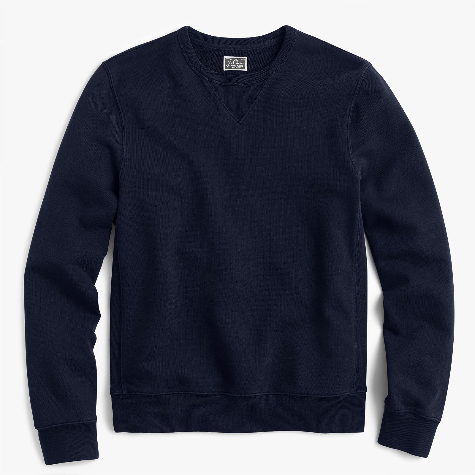 Washed french terry crewneck sweatshirt