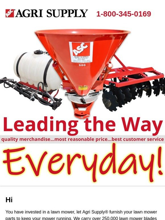agrisupply com: Leading the Way, Everyday! | Milled