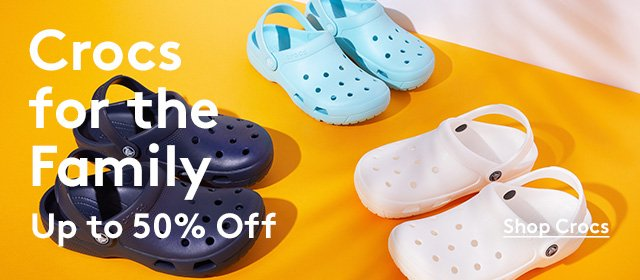 Crocs for the Family | Up to 50% off | Shop Crocs