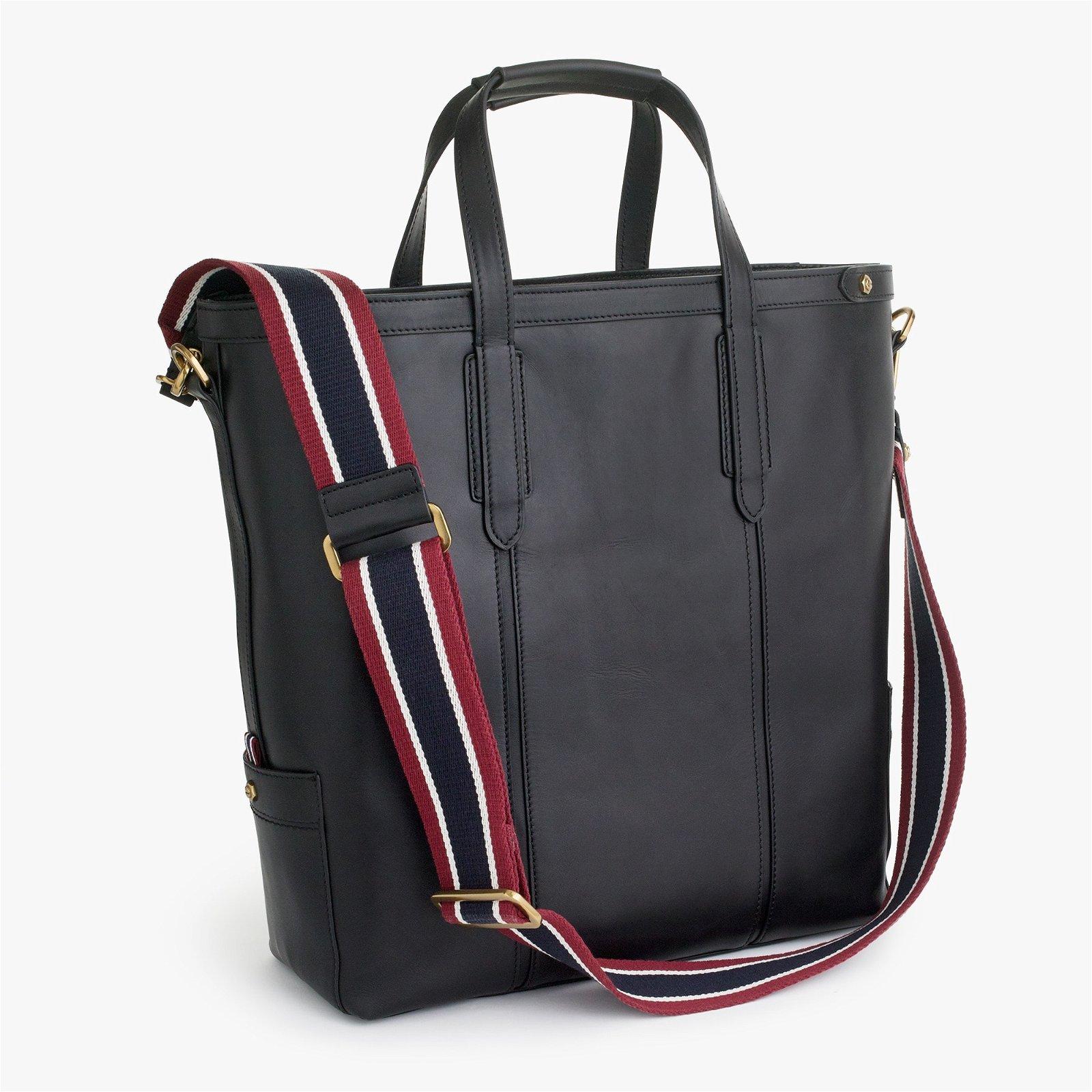 Oar Stripe leather tote bag