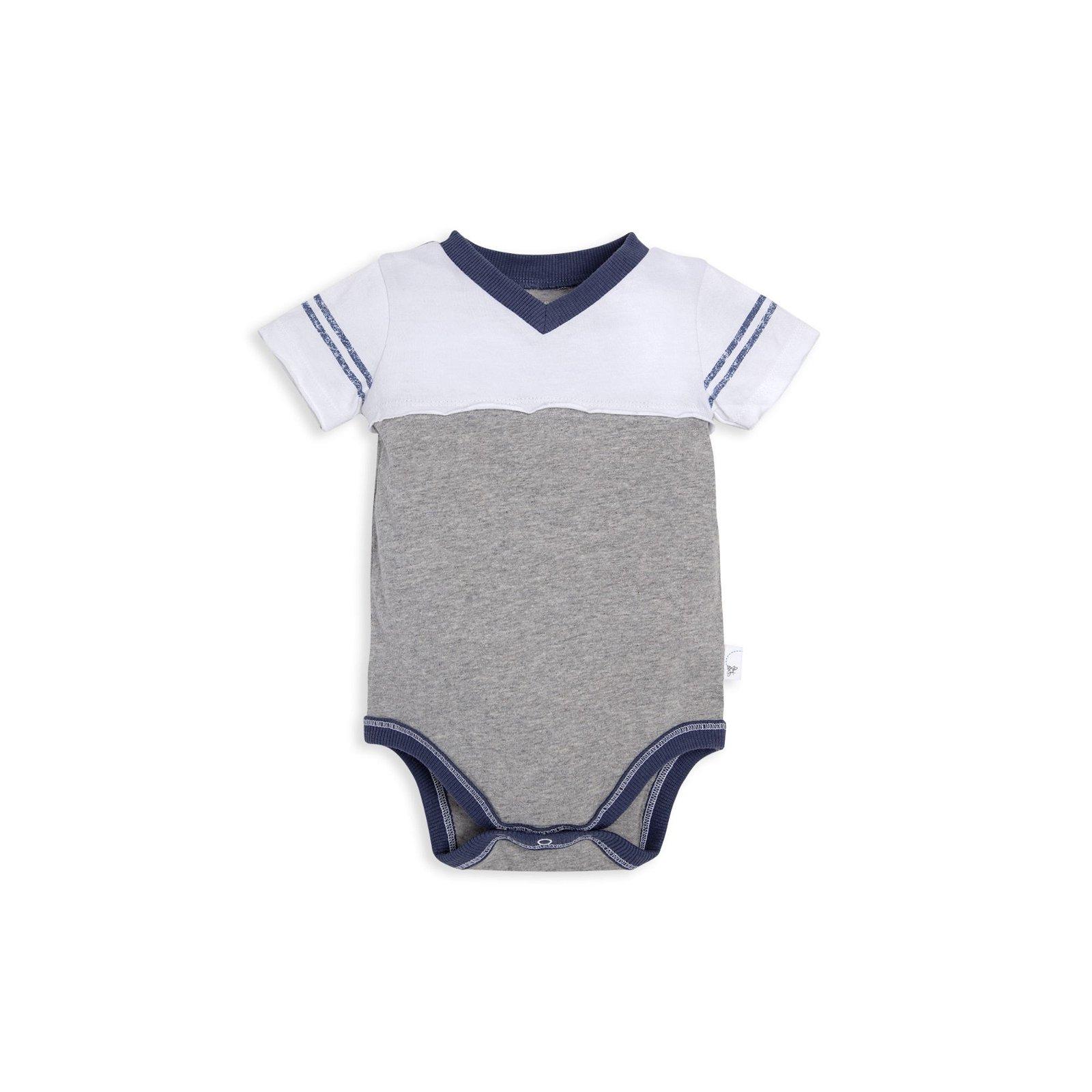 Sporty Vintage V-Neck Organic Baby Bodysuit