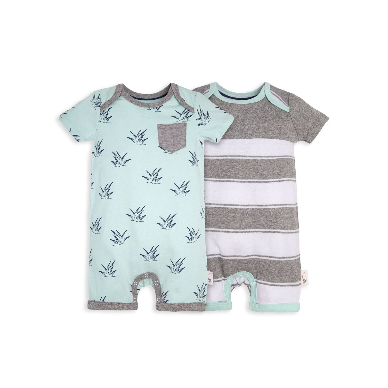 Sprouts and Stripes Organic Baby Romper 2 Pack