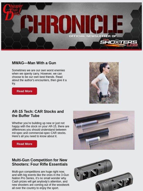 Cheaper Than Dirt: Man with a Gun, AR-15 Tech, Four Rifle