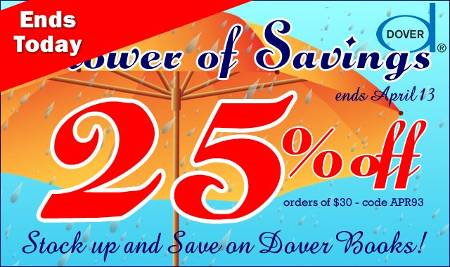 Shower of Savings Ends Today: Save 25%