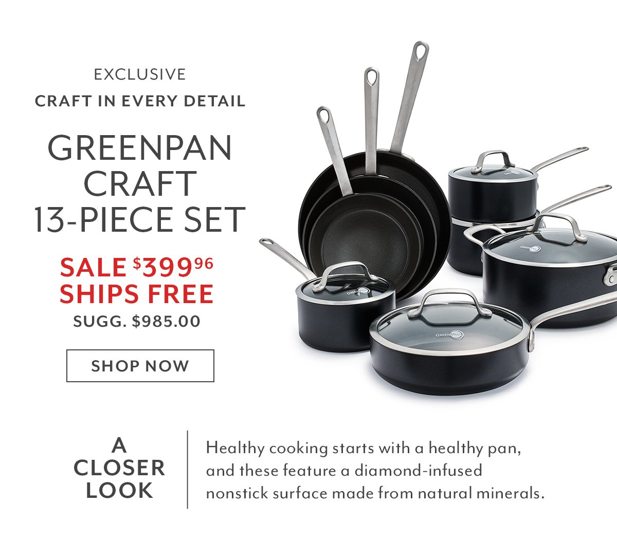 GreenPan Craft 13-PC Set