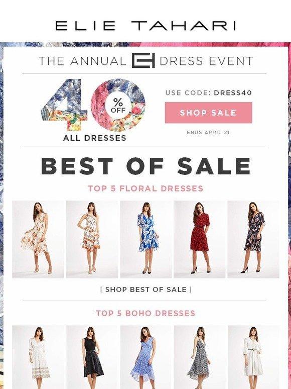 cc338aaf9cf Elie Tahari  The Annual Dress Event - Best Of Sale