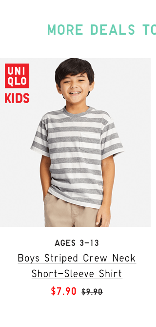 BOYS STRIPED CREW NECK SHORT-SLEEVE SHIRT $7.90 - SHOP WOMEN