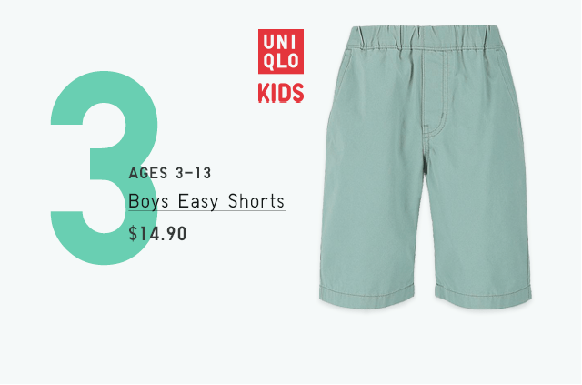 BOYS EASY SHORTS $14.90
