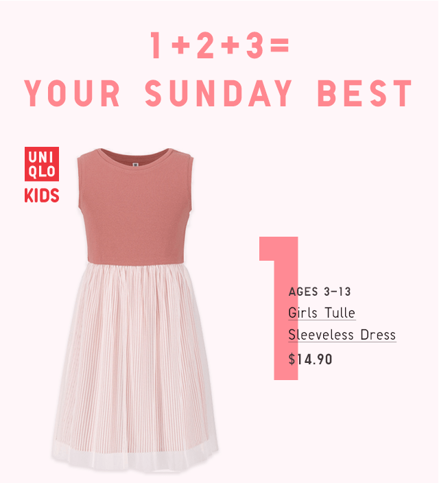 GIRLS TULLE SLEEVELESS DRESS $14.90