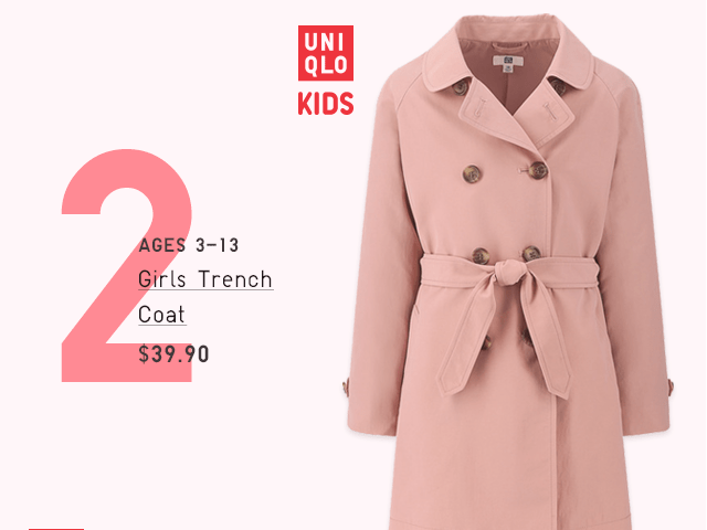 GIRLS TRENCH COAT $39.90
